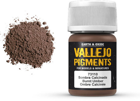 Vallejo Pigment: Burnt Umber (73.110)