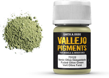 Vallejo Pigment: Faded Olive Green (73.122)