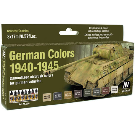 Vallejo Paint Set: German Colors 1940-1945 (71.206)