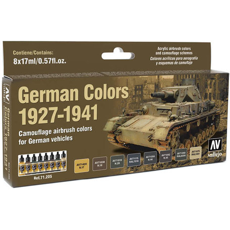 Vallejo Paint Set: German Colors 1927-1941 (71.205)