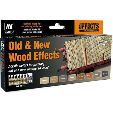 Vallejo Paint Set: Old & New Wood Effects (71.187)