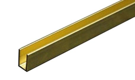 Albion Alloys Messing U-Profiel 2.5 mm x 2.5 mm