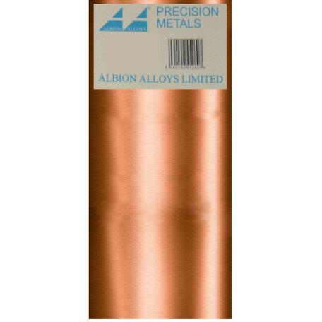 Albion Alloys Koper Plaat 0.60 x 100 x 250 mm