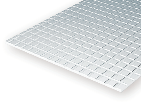 Evergreen 4518: Sidewalk 1.0 mm - Squares 12.7 mm