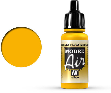 002. Vallejo Model Air: Medium Yellow (71.002)