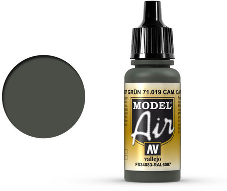 019. Vallejo Model Air: Camo Dark Green (71.019)