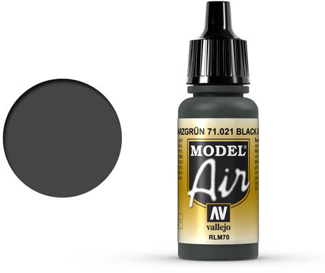 021. Vallejo Model Air: Black Green RLM70 (71.021)