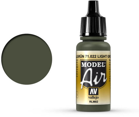 022. Vallejo Model Air: Light Green RLM82 (71.022)