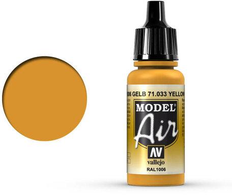033. Vallejo Model Air: Yellow Ochre (71.033)