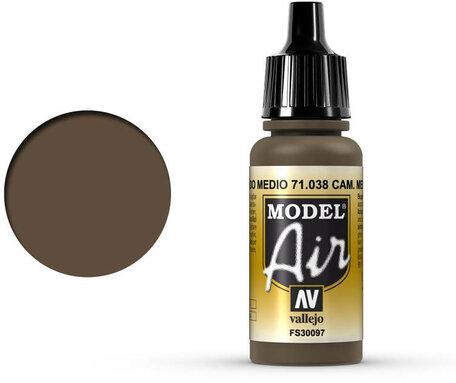 038. Vallejo Model Air: Camo Medium Brown (71.038)