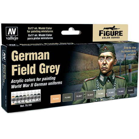Vallejo Paint Set: German Field Grey (70.181)