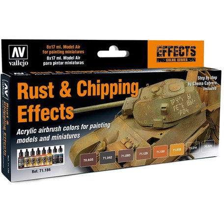 Vallejo Paint Set: Rust & Chipping Effects (71.186)
