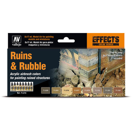 Vallejo 71.214 Ruins & Rubble Paint Set
