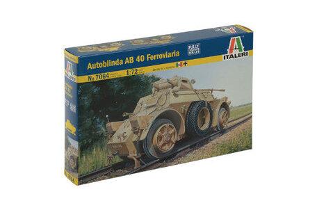 Italeri Autoblinda AB 40 Ferroviaria 1:72