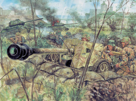 Italeri PAK 40 AT Gun with Servants 1:72