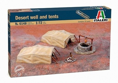 Italeri Desert Well and Tents 1:72