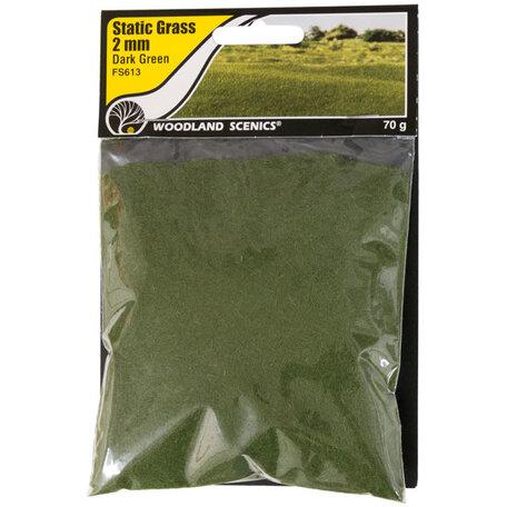 Woodland Static Grass: Dark Green 2 mm