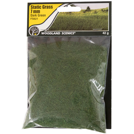Woodland Static Grass: Dark Green 7 mm