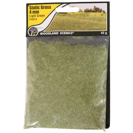 Woodland Static Grass: Light Green 4 mm