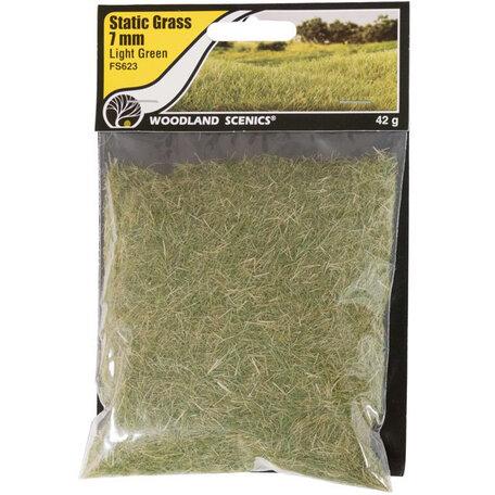 Woodland Static Grass: Light Green 7 mm