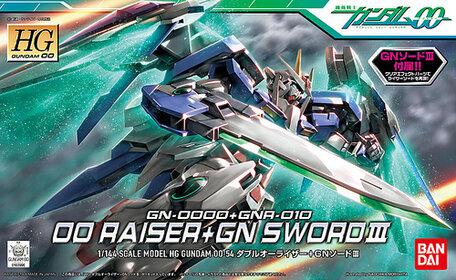 HG 1/144: GN-0000+GNR-010 00 Raiser + GN Sword III