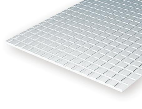 Evergreen 4515: Sidewalk 1.0 mm - Squares 4.8 mm