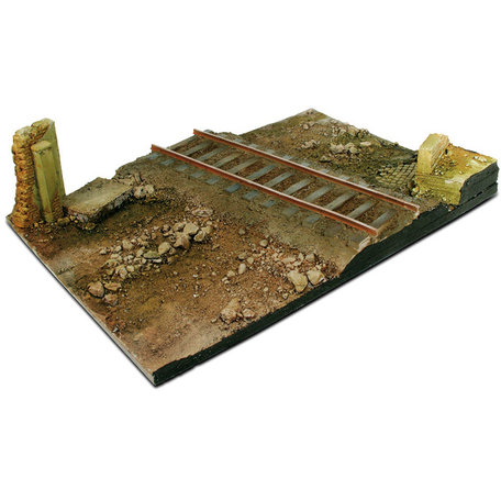 Vallejo Diorama Base: Country Road Cross with Railway