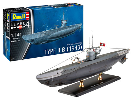 Revell German Submarine Type IIB (1943) 1:144