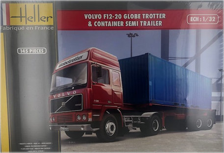 Heller Volvo F12-20 Globe Trotter & Container 1:32