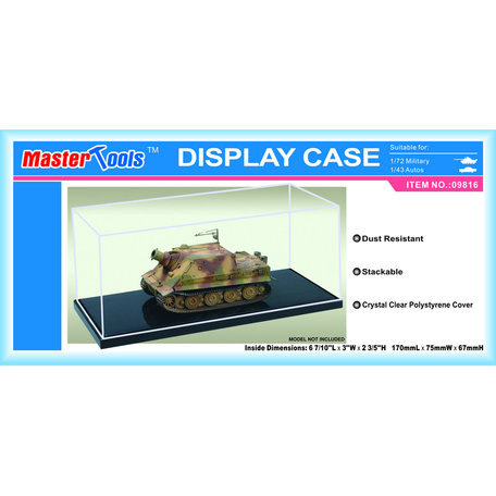 Display Case: 17,0 x 7,5 x 6,7 cm