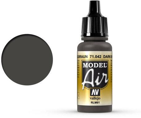 042. Vallejo Model Air: Dark Brown RLM61 (71.042)