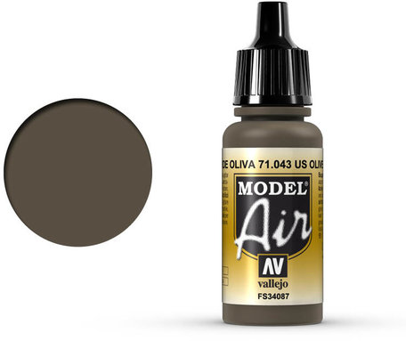 043. Vallejo Model Air: US olive Drab (71.043)
