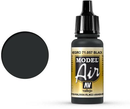 057. Vallejo Model Air: Black (71.057)