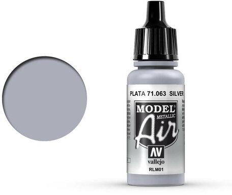 063. Vallejo Model Air: Silver RLM01 (71.063)