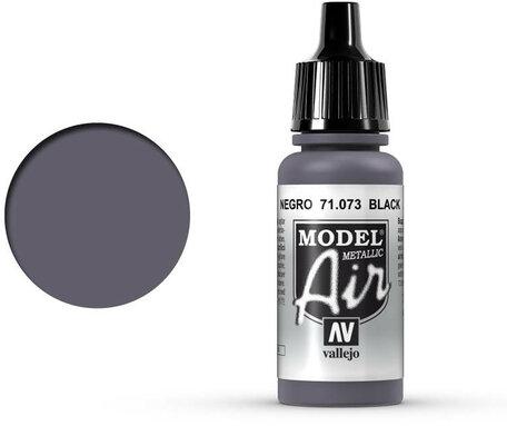 073. Vallejo Model Air: Black Metallic (71.073)