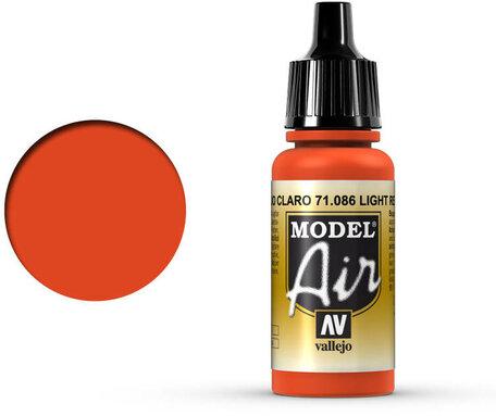 086. Vallejo Model Air: Light Red (71.086)