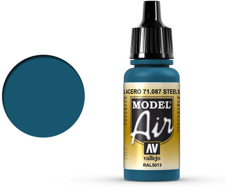 087. Vallejo Model Air: Steel Blue (71.087)