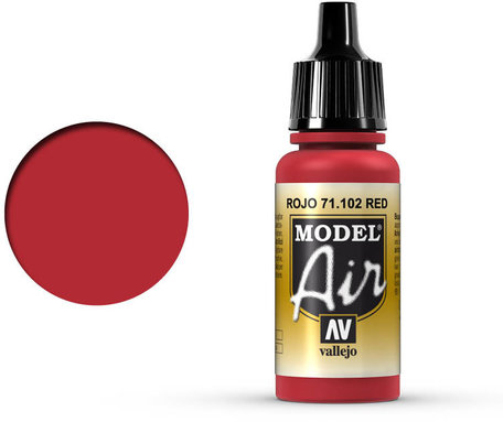 102. Vallejo Model Air: Red (71.102)