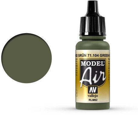 104. Vallejo Model Air: Green RLM62 (71.104)