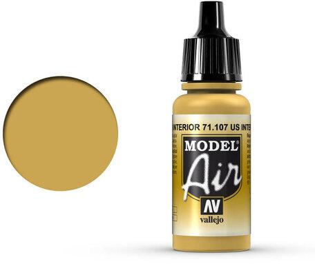 107. Vallejo Model Air: US Interior Yellow (71.107)