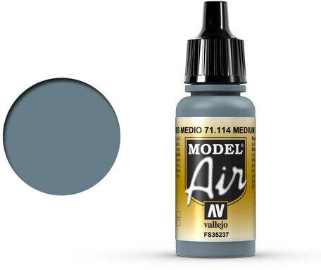 114. Vallejo Model Air: Medium Gray (71.114)