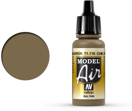 116. Vallejo Model Air: Camouflage Grey Green (71.116)