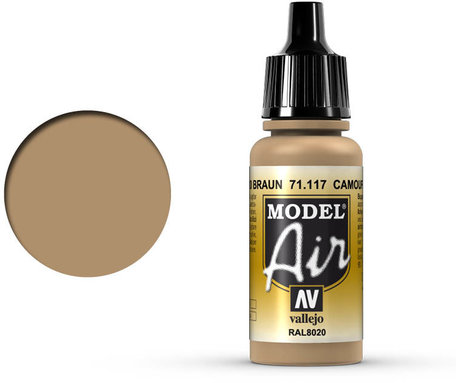 117. Vallejo Model Air: Camouflage Brown (71.117)