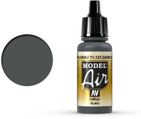 123. Vallejo Model Air: Dark Gray RLM42 (71.123)
