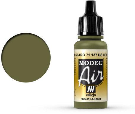 137. Vallejo Model Air: US Light Green (71.137)