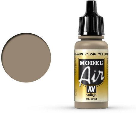246. Vallejo Model Air: Yellow Brown (71.246)