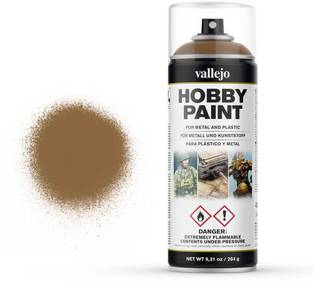 Vallejo Spray Paint: Leather Brown (28.014)