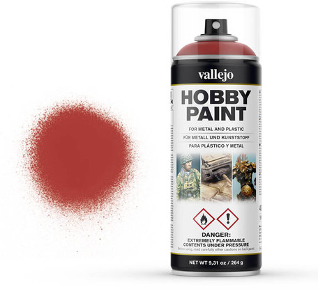 Vallejo Spray Paint: Scarlet Red (28.016)