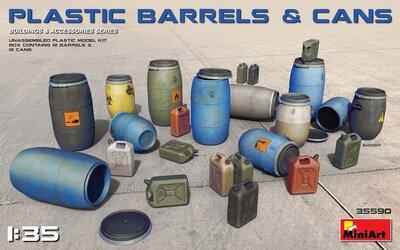 MiniArt Plastic Barrels & Cans 1/35 #35590