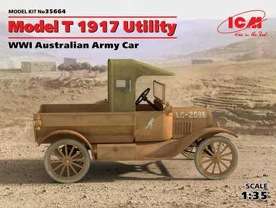 ICM 35664 | Model T 1917 Utility WWI Australian Army Car 1/35